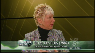 Retirement Report: Tax & Financial Questions