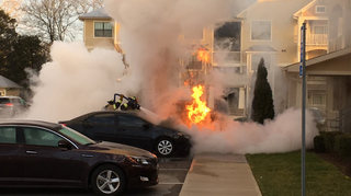 2 Vehicles Burn In Apartment Parking Lot Fire