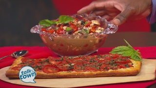 Fresh Tomato Tart & Mediterranean Tomato Salad