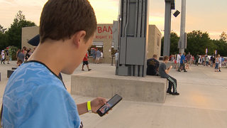 Sounds Fans Play Pokemon At Park Before Game