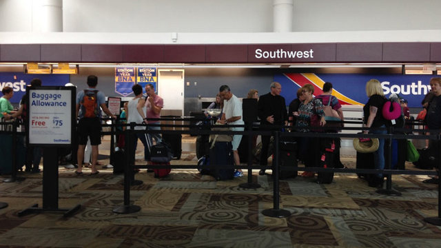 Sewage water leaks onto luggage at Nashville airport
