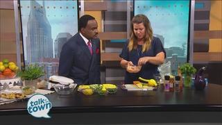 Grilled Citrus Chicken Kabobs w/Cucumber Salsa