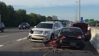 6-Car Crash Snarls Traffic On I-65N In Franklin