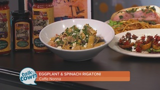 Caffe Nonna: Rigatoni with Spinach and Eggplant
