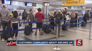 Customer Complaints About Airlines Up