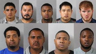 9 Men Arrested On Prosittution Charges