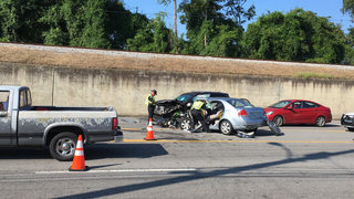 Motorcycle, 3 Vehicles Involved In Crash
