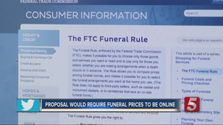 Proposal Would Post Funeral Prices Online