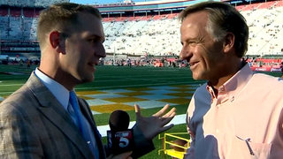 Governor Haslam Talks About Battle At Bristol