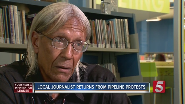 Pipeline protest site a city unto itself with school, meals