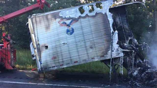 Wrong-Way, Fiery Crash Closes I-40 In Hickman Co