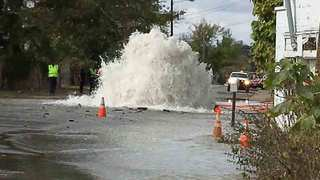 Water Main Break Closes Section Of Clifton Ave.