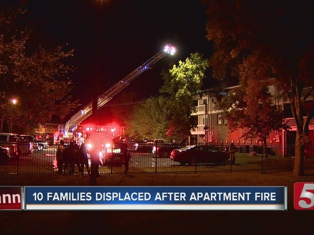 10 Families Displaced In Madison Apartment Fire