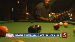 Melrose Billiards Closes Its Doors Ahead Of Bar