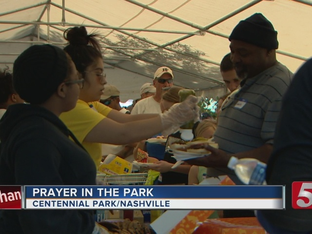 'Prayer In The Park' Helps The Homeless
