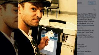 Justin Timberlake Flies To Memphis To Vote