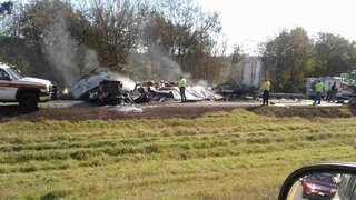 1 Killed In Fiery Semi Crash On I-65