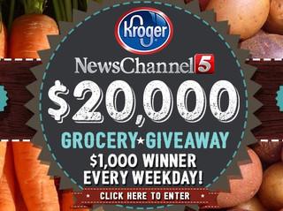 NewsChannel 5 & Kroger $20,000 Grocery Giveaway