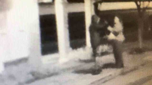 Robbery At School Bus Stop Caught On Camera