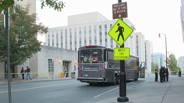 Pedestrian Struck By Bus Near Music City Central