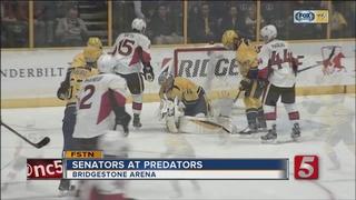 Predators Win 3-1 Over Senators