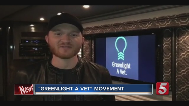 Shine a green light for veterans this Veterans Day