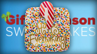 'Happy Everything' Plate, Candy Cane Attachment