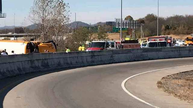 Dozens injured in Tennessee school bus crash