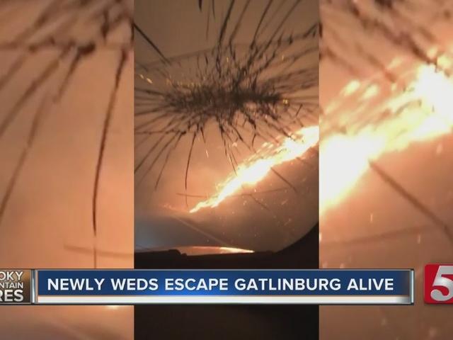 Couple Escapes Gatlinburg Fire During Their Honeymoon