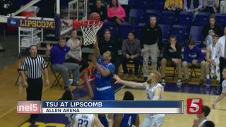 Late Jumper Puts TSU Over Lipscomb 72-71
