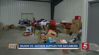 Volunteers Create Care Packages For Fire Victims