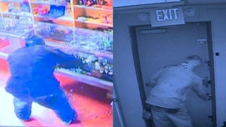 Smash-&-Grab Burglar Seen On Surveillance