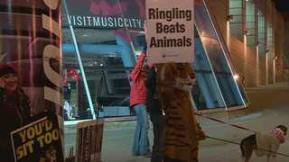 PETA Protests Ringling Brothers At Brdgestone