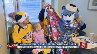 Preds Visit Children's Hospital For The Holidays