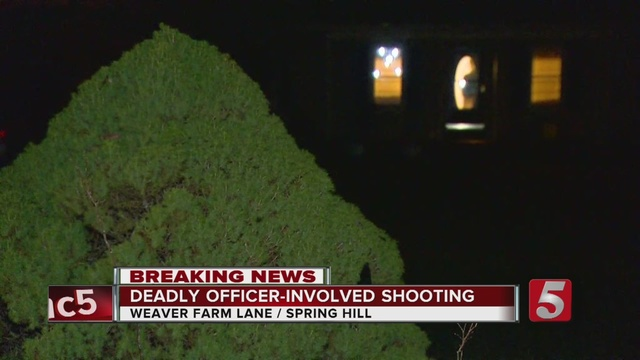 TBI investigating officer-involved shooting in Spring Hill