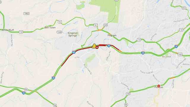 Crashes Closes I-40 In Cheatham County