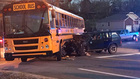 1 Injured In Crash Involving School Bus