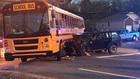 1 Injured In Crash Involving School Bus