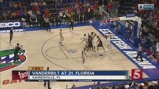 Vanderbilt Tops No. 19 Florida 68-66