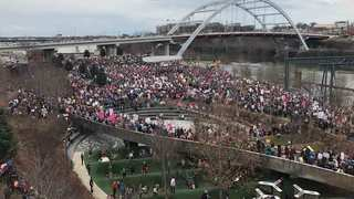 Thousands March For Women's Rights In Nashville