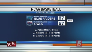 Middle Tennessee Rolls FAU 87-57