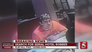 Man Sought In Nashville Hotel Robberies