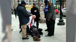 Trump Supporter Assaulted On Inauguration Day