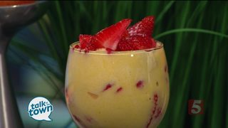The Stiletto Chef: Strawberry Italian Custard