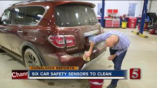 Six Car Safety Sensors To Clean This Winter