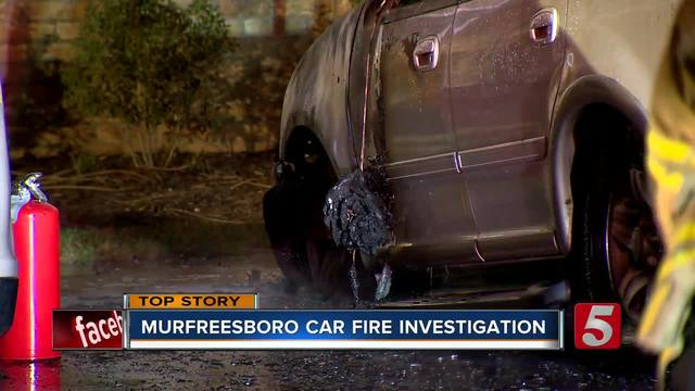 SUV Destroyed In Fire Outside M-Boro Apartments