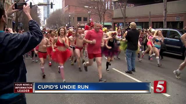 Runners Hit The Street In Undies For -Cupid- Run
