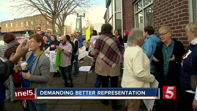Dozens Protest Outside Rep- DesJarlais- Office
