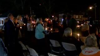 Community Holds Vigil For Mayor