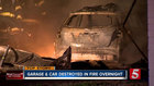 Car Destroyed In Overnight Garage Fire